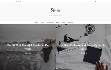 Shine Free Responsive Blogger Template | Blogger themes | Scoop.it