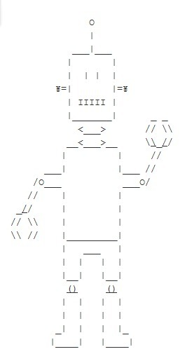 ASCII Art Robot | Ascii Art And Haiku | ASCII Art | Scoop.it