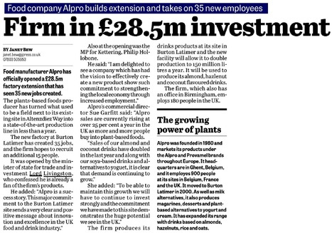Firm in £28.5m investment - Northamptonshire Telegraph, 19 March 2015 | UK Trade & Investment media coverage | Scoop.it