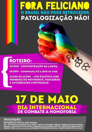 A Liga Gay: 17 de Maio - Fora Feliciano - O Brasil não pode retroceder! | Brasil-News | Scoop.it