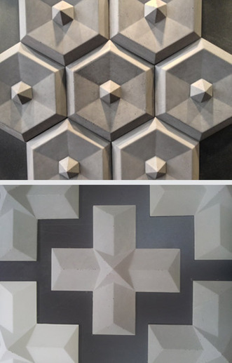 Carreaux 3D, Maison et Objet septembre 2013, Taporo Paris   design-beton   Scoop.it