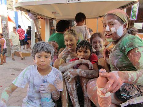 Carnaval in San Pedro: Dancing and Lots & Lots of Paint   Belize in Social Media   Scoop.it