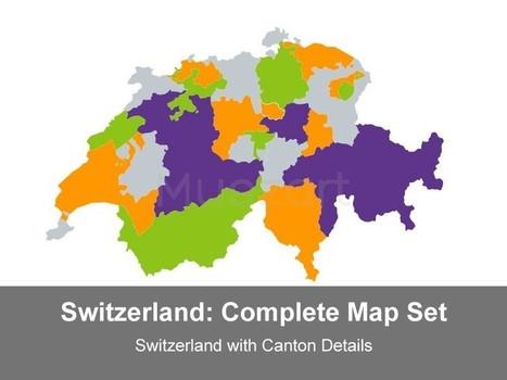 Switzerland Map - Complete Set   mapit   Scoop.it