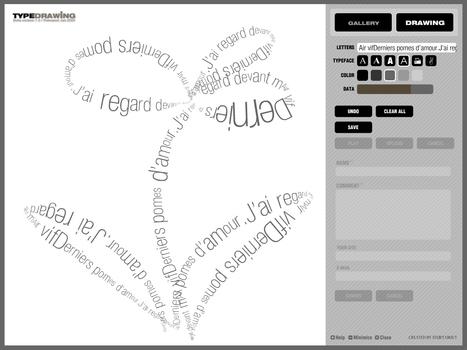 TypeDrawing Web Version ::: by Hansol Huh, 2005. Générateur de calligrammes. | CRÉER - DESSINER EN LIGNE | Scoop.it