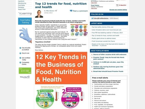 Top 12 Trends for Food, Nutrition and Health | Nutrition Daily | Healthy Living | Scoop.it