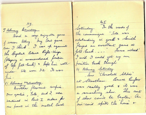 London War Diary: February 7th, 11th and 14th, 1941   London War Diary. Original written pages. 1940   Scoop.it