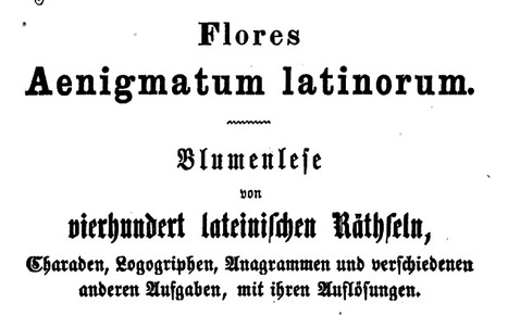 Bestiaria Latina: Google Books and More: Binder: Flores Aenigmatum Latinorum | culture | Scoop.it