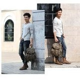 Rugged hunter canvas rucksack for men | personalized canvas messenger bags and backpack | Scoop.it