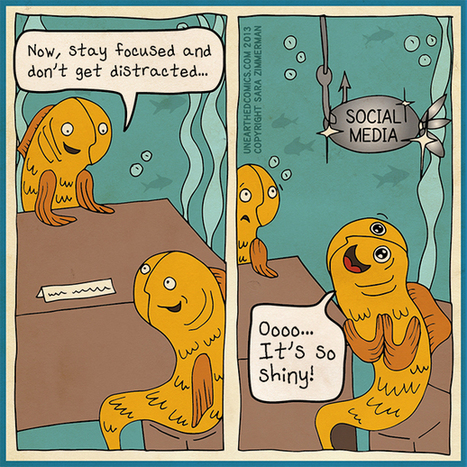 Social media humor and marketing cartoons about getting distracted | Unearthed Comics | Enfants et technologies - Children and technology | Scoop.it