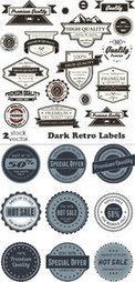 Vectors - Dark Retro Labels | My Media | Scoop.it