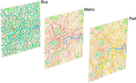 The multilayer temporal network of public transport in Great Britain | Sistemas complejos | Scoop.it