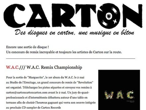 Carton Records présente W.A.C. Remix Competition | Jazz Buzz | Scoop.it