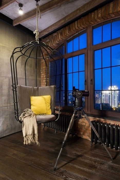 Warehouse Style Loft with Stunning Visual Appeal:Kiev, Ukraine | Raw and Real Interior Design | Scoop.it