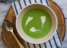 Eatsy: Spring Pea Soup With Fromage Blanc Cream | Cheap Gourmet Meals | Scoop.it
