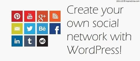 WordPress Social Networking : Create a social network with WordPress | Blogging and Social Media | Scoop.it