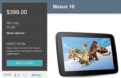 Le Google Nexus 10 réapparaît sur le Google Play Store   Telecom et applications mobiles   Scoop.it