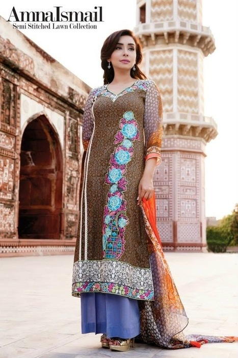 New Summer Wear Stitched Suits Collection In Lawn Vol-2 By Amina Ismail From 2014 | Women Fashion | Women fashion | Scoop.it