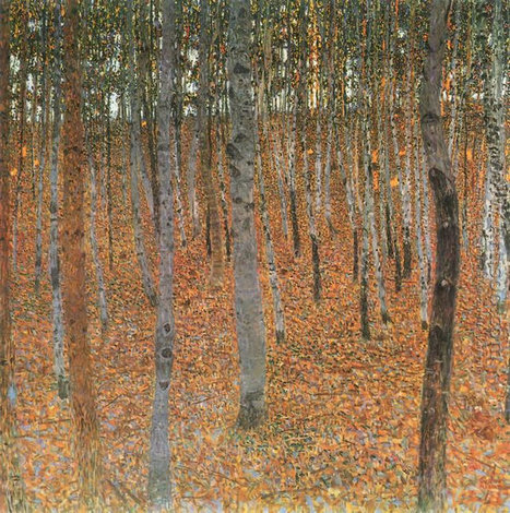 Oil painting reproduction: Gustav Klimt Beech Forest Buchenwald I - Artisoo.com | Olieverfschilderijen | Scoop.it