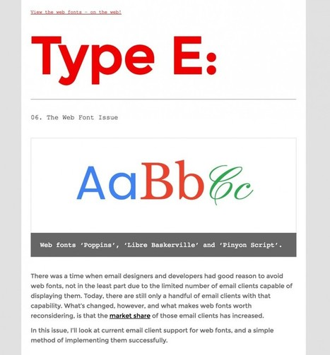 The Ultimate Guide to Web Fonts in Email - Litmus | Email Marketing Today and Tomorrow | Scoop.it