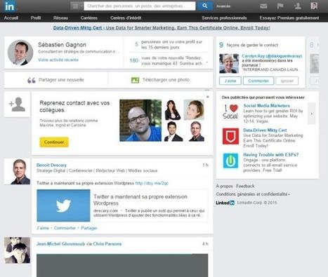 Linkedin: tout ce que vous devez savoir à propos de la nouvelle page d'accueil | Gestion de l'information | Scoop.it