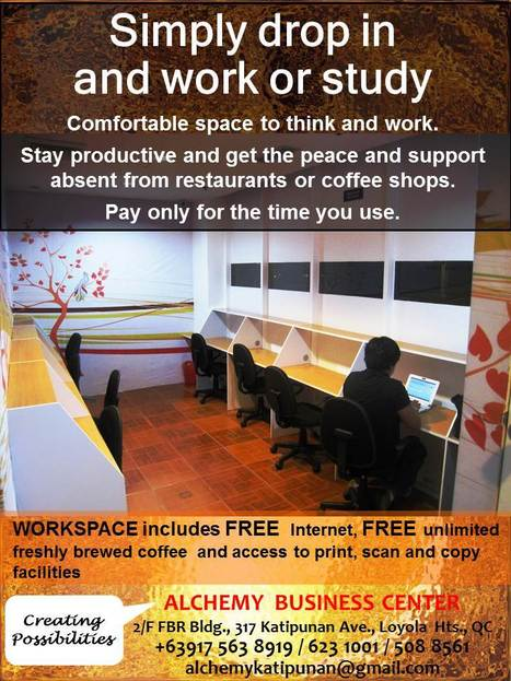 Workspaces @ Alchemy | Katipunan Gazette | Scoop.it