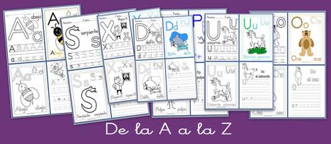 De la A a la Z. Lectoescritura con las letras del abecedario | fichas lectoescrituras para niños con hiperactividad | Scoop.it