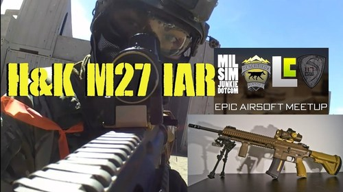 DesertFox Airsoft: H&K M27 IAR Gameplay and Epic Airsoft Meet Up Moments - YouTube