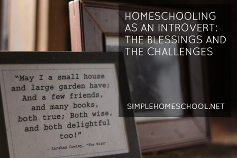 Homeschooling as an introvert: the blessings & challenges | Spanish for Homeschooling | Scoop.it