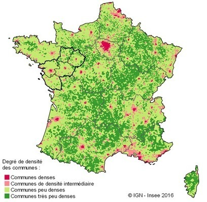 Insee > En dehors des villes, des territoires plus dynamiques que dans les autres régions | Observer les Pays de la Loire | Scoop.it