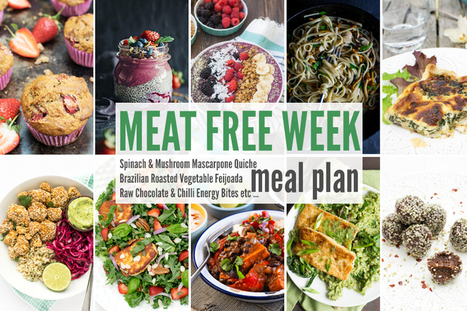 Meat Free Meal Planner: Spinach & Mushroom Mascarpone Quiche, Brazilian Roasted Vegetable Feijoada + Raw Chocolate & Chilli Energy Bites | Everything Chocolate | Scoop.it