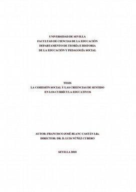 La Cohesión Social y las Creencias de sentido en los Currícula Educativos. - Fondos Digitalizados de la Universidad de Sevilla | MJPC | Scoop.it