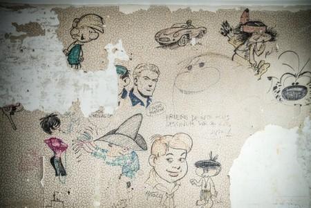 Des esquisses originales de Gaston et du Marsupilami retrouvées sous du papier peint | Merveilles - Marvels | Scoop.it