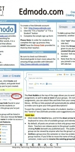 The Edmodo Cheat Sheet For Teachers Infographic | Aprendiendo a Distancia | Scoop.it