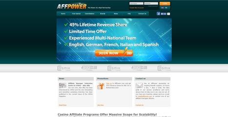 Affpower Casino Affiliate Program | marketing-reviews | Scoop.it