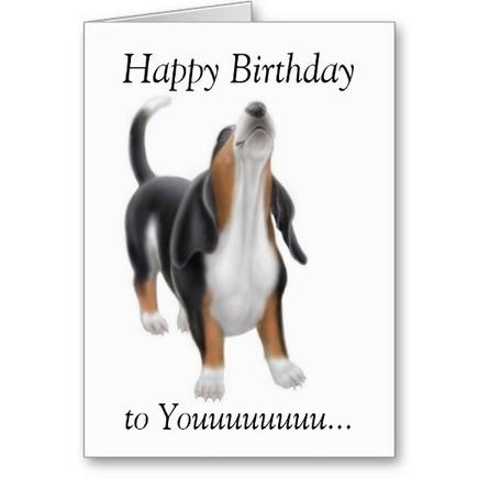 Singing Dog Happy Birthday Card