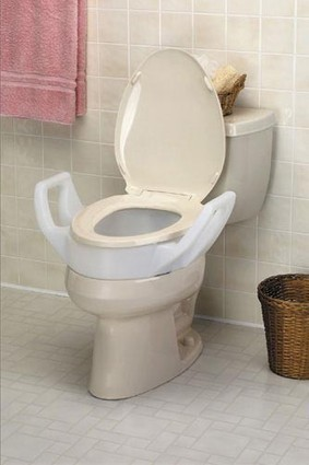 Elevated Toilet Seat w/Arms Elongated 19 Wide * Bath Care * Raised Toilet Seat * 1147A | Durable Medical Equipment | Scoop.it
