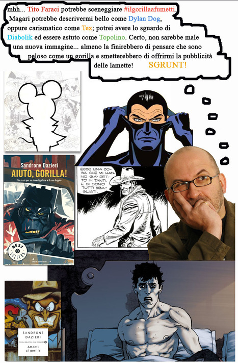 Il Gorilla a fumetti - Potrebbe diventare un progetto di Sandrone Dazieri e Tito Faraci?   DailyComics   Scoop.it