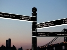 World's Most Intelligent Street Sign Can Point You to Almost Anything - Adweek | Smarter Planet | Scoop.it
