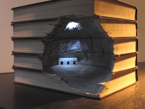 Carved Book Landscapes by Guy Laramee | Colossal | What Surrounds You | Scoop.it