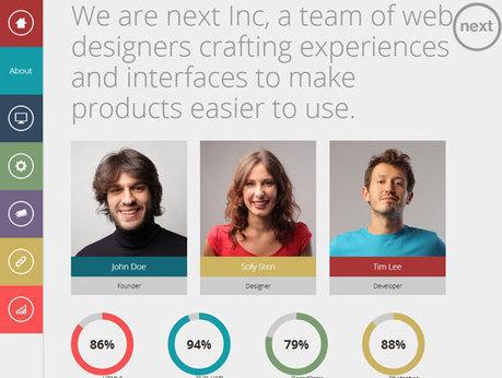 Collection Of Trendy Flat Portfolio Website Templates ( HTML5/CSS3) | Web Design & Development | Scoop.it