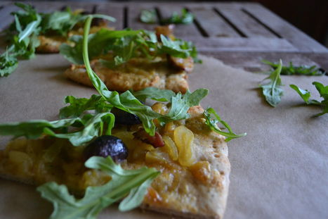 Whole Wheat Vegan Pizza with Caramelized Onions, Figs, and Arugula | My Vegan recipes | Scoop.it