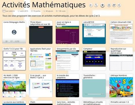 Activités Mathématiques 1er degré | TICE, Web 2.0, logiciels libres | Scoop.it