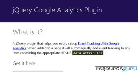 Resources for Extending Google Analytics - Resource Guru | Web Analytics and Web Copy | Scoop.it