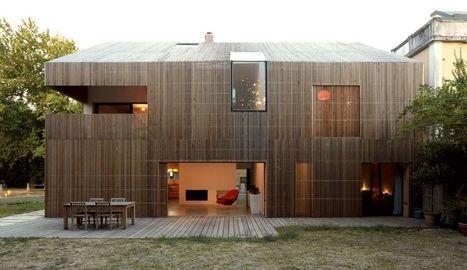 belle maison en bois contemporaine au sud de la. Black Bedroom Furniture Sets. Home Design Ideas