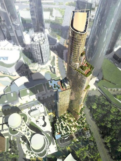 385-meter Skyscraper with a Vertiginous Swimming Pool by Kohn Pedersen Fox | Design | News, E-learning, Architecture of the future at news.arcilook.com | Architecture e-learning | Scoop.it