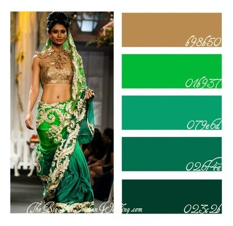 Emerald – Pantone Color of the Year 2013 {Color Palette} | South Asian Weddings | Scoop.it
