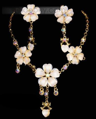 Beautiful Alloy with Orange Rhinestone Wedding Jewelry Set-(Including Necklace and Earring) | Bellaboy | Scoop.it