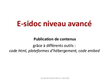 E sidoc niveau avancé html - Education - Online Powerpoint Presentation and Document Sharing - SlideServer.fr | Apprivoisons Esidoc | Scoop.it