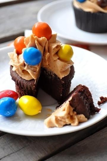 Elodie's Bakery: Cupcake au beurre de cacahuète, chocolat et M&M's | Cupcakes en France | Scoop.it