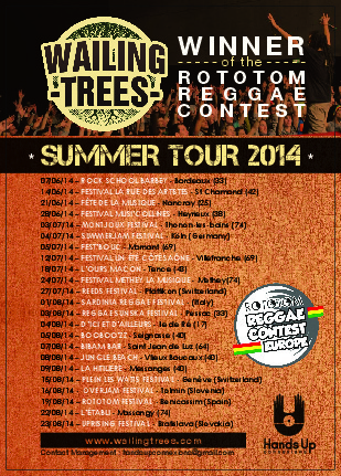 SUMMER TOUR 2014! | Wailing Trees | Scoop.it